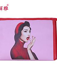 Organizador para Maquiagem Bolsa de Cosmético / Organizador para Maquiagem PU Desenhos Animados Quadrar 19x11.6x10cm Azul / Roxa / Rose