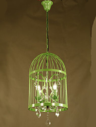 Vintage Clothing Store Iron Cage Staircase Lamp Chandelier Crystal B