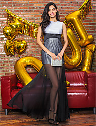 TS Couture® Formal Evening Dress Trumpet / Mermaid Jewel Floor-length Chiffon / Polyester with