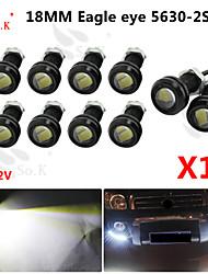 10 x 9w conduit l'œil d'aigle brouillard de voiture lumière diurne DRL inverser le signal de stationnement sauvegarde 12v noir
