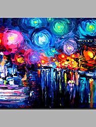 pintura a óleo moderna mão puro abstrato desenhar pronto para pendurar decorativo o céu estrelado