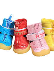 Dog Socks & Boots Pink Winter Fashion