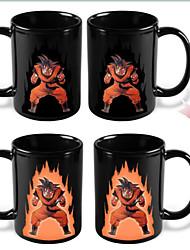 1X 300ml Heat Color Changing Ceramic Mug Cartoon Dragon Ball Z Son Goku  Super Saiyan Cups Black Coffee Mugs
