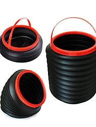 ziqiao 4l nova multifuncional barril recipiente carro mágica lixo bin balde de armazenamento dobrável