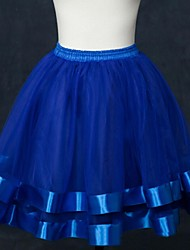 Slips Ball Gown Slip Short-Length 2 Tulle Netting White Black Red Blue Blushing Pink