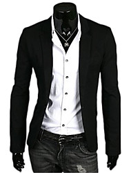 Bradn High Quality Men's Long Sleeve Regular Blazer , Polyester Pure Slim Fit Leisure a men's Five Colours Suit Coat