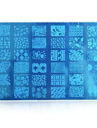 10pcs New 2016 DIY Beauty Image Nail Stencils Nail Art Stamping PlatesDesignsDIY Tools HK03 Random Delivery HK(1-10)
