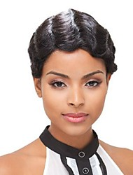 Wavy Short Celebrity Short human hair wigs Machine Made Short Wig Human Hair None Lace Brazilian Hair Human Hair Wig