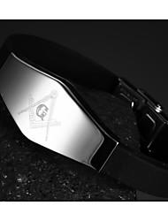 Bracelet Chaînes & Bracelets Silicone / Acier au titane Soirée / Quotidien / Décontracté / Sports Bijoux Cadeau Brun,1pc