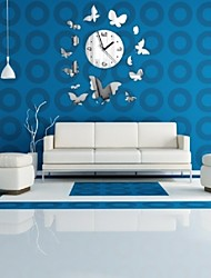 New Time-Limited Limited Butterflies Mirror Wall Clock Clocks Acrylic Safe Living Room Design Quartz Watch Sticker