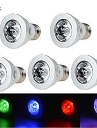 5pcs HRY® 3W E27/E14/GU10/GU5.3 RGB Color Changing LED Light Bulb Lamp with Remote Control(85-265V)