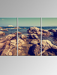 VISUAL STAR®3 Panel Seascape Canvas Print Beach Scenery Wall Art Ready to Hang