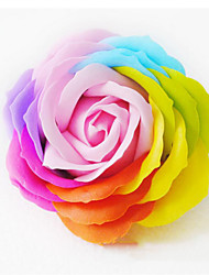 1 Piece Color Artificial Flower Rose Flower Colorful Rose Flower for Wedding Home Decoration (Random Color)