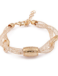 South Korea Gold Wire Mesh Crystal Twist Flower Transfer Bead Bracelet