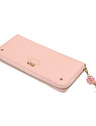 Skywin Women Wallet New  Lovely Ladies Bow Wallet Handle Walet Long Wallet Zipper WalletJF0529001