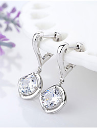 Drop Earrings Cubic Zirconia Fashion Screen Color Jewelry 2pcs