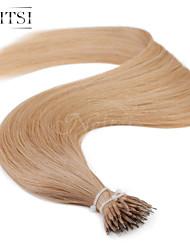 """neitsi® 20 """"1 g / s nano Ringschleife gerades Haar 100% Echthaar Haarverlängerungen 14 # include Haar-Tools"""