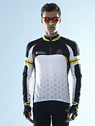 MYSENLAN Bike/Cycling Jersey / Tops Men's Long Sleeve Breathable / Lightweight Materials / Held-In Sensation Polyester / TeryleneClassic