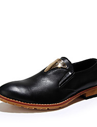 Men's Shoes Casual Leather Slip-on Black / Brown / Burgundy