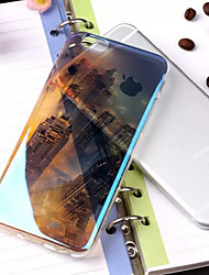 New York néon nightscape glitter iphone doux semi-couverture arrière pour 6s iphone plus / iphone 6 plus