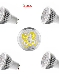 5pcs HRY® 4W GU10/GU5.3/E27/E14 450LM Warm/Cool White Color Light LED Spot Lights(85-265V)