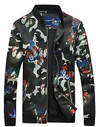 Men's Long Sleeve Jacket , Polyester Casual / Sport Print
