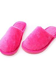 Желтый / Зеленый / Розовый / Красный-Женская обувь-На каждый день-Флис-На плоской подошве-Тапочки-Тапочки