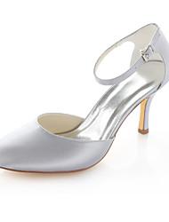 Women's Wedding Shoes Heels / Peep Toe Sandals Wedding / Party & Evening / Dress Pink / Silver