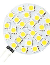 g4 4.8W 24-LED 5050 caldo forma rotonda bianca guidata