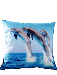 3D Design Print Dolphin Decorative Throw Pillow Case Cushion Cover for Sofa Home Decor Polyester Soft Material