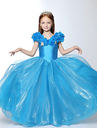 Ball Gown Floor-length Flower Girl Dress - Organza Short Sleeve