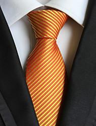 Cravate ( Jaune , Polyester ) Rayé