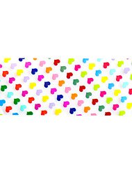 10pcs 100cmx4cm Colorful Heart Shape Glitter  Nail Foil Sticker  DIY Beauty  Nail Decorations  Sticker STZXK01-49