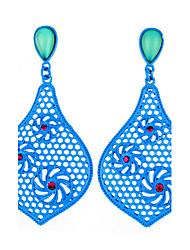 la nouvelle mode cristal fin joyau des femmes exagérées boucles d'oreilles avec boîte d'emballage