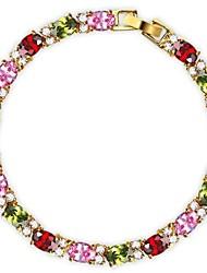 Copper Bracelets and Bangles New Design Colorful Zircon Bracelet 18K Rose Gold Plate Women Bracelet