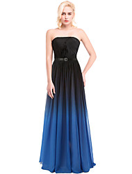 Prom / Formal Evening Dress Ball Gown Strapless Floor-length Chiffon / Charmeuse with Draping / Sash / Ribbon / Side Draping