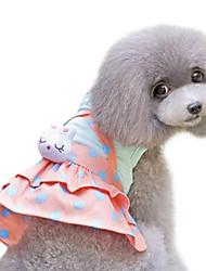 Dog Dress Yellow Summer / Spring/Fall Polka Dots Fashion