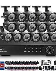 annke® 16 canais HD 1080p interior câmera de segurança ao ar livre ir para casa CCTV HDMI DVR sistema
