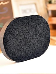 4PCS  Activated Bamboo Charcoal  Clean Powder Puff  Cleansing Cotton Cleansing Sponge  Wash Sponge Puff with Box