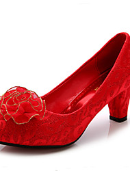 Women's Wedding Shoes Heels / Round Toe / Closed Toe Heels Wedding Red