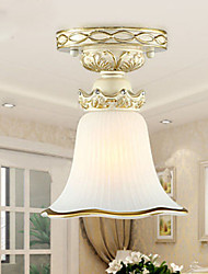 23*18CM  Europe Type Resin Glass Dome Light Sweet Bedroom Study Led To Absorb Dome Light LED Lamp