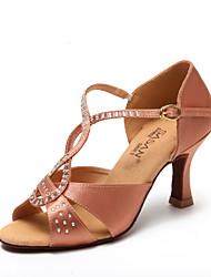 Zapatos de baile ( Negro / Chocolate ) - Latino / Salsa - No Personalizables - Tacón Carrete