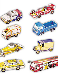 Jigsaw Puzzles 3D Puzzles Paper Model Building Blocks DIY Toys Car 8 Paper Red Blue Yellow Model & Building Toy