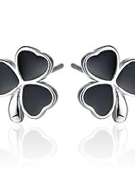 Boucles d'oreille goujon Bijoux Femme Mariage Soirée Quotidien Décontracté Sports Argent sterling Imitation de perle 1pc Argent