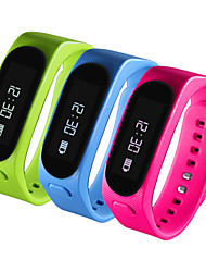 2 en 1 bluetooth pulsera brazalete de auriculares inteligentes oled podómetro pantalla
