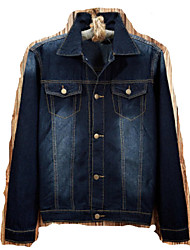 2016 new men's casual fashion jacket slim denim jacket denim jacket