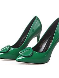 Feminino-Saltos-Bico Fechado / Conforto / Bico Fino-Salto Agulha-Preto / Verde / Vermelho / Cinza / Laranja-Courino-Casual