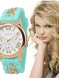 2016 Christmas gifts watch inlaid diamond single diamond Geneva Silicone Digital Watch Cool Watches Unique Watches