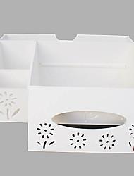 Modern White Multifunctional Plastic Desktop Storage Box