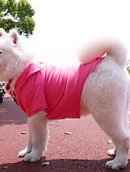 Dog Shirt / T-Shirt / Shirt Black / White / Pink / Gray Dog Clothes Summer Solid Fashion